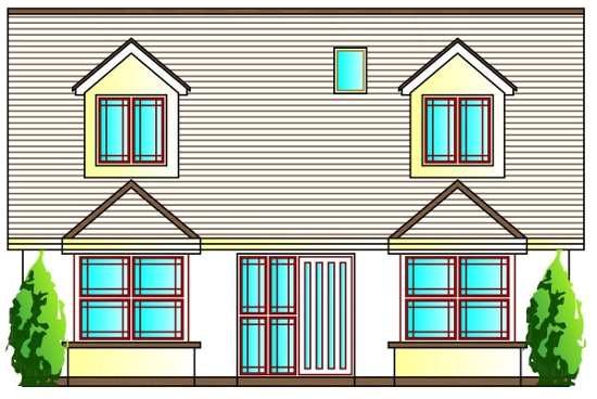 House Front Elevation Uk : Bed house plans buy online the uk s